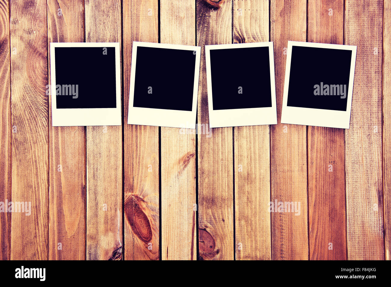 Instant blank polaroid photos frames on wooden background. Free ...