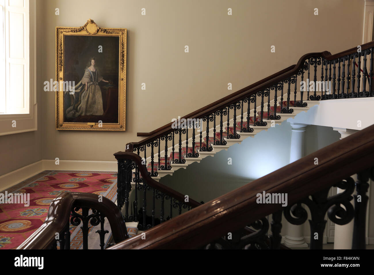 The main staircase of State Apartments.Dublin Castle.Dublin.Ireland - Stock Image