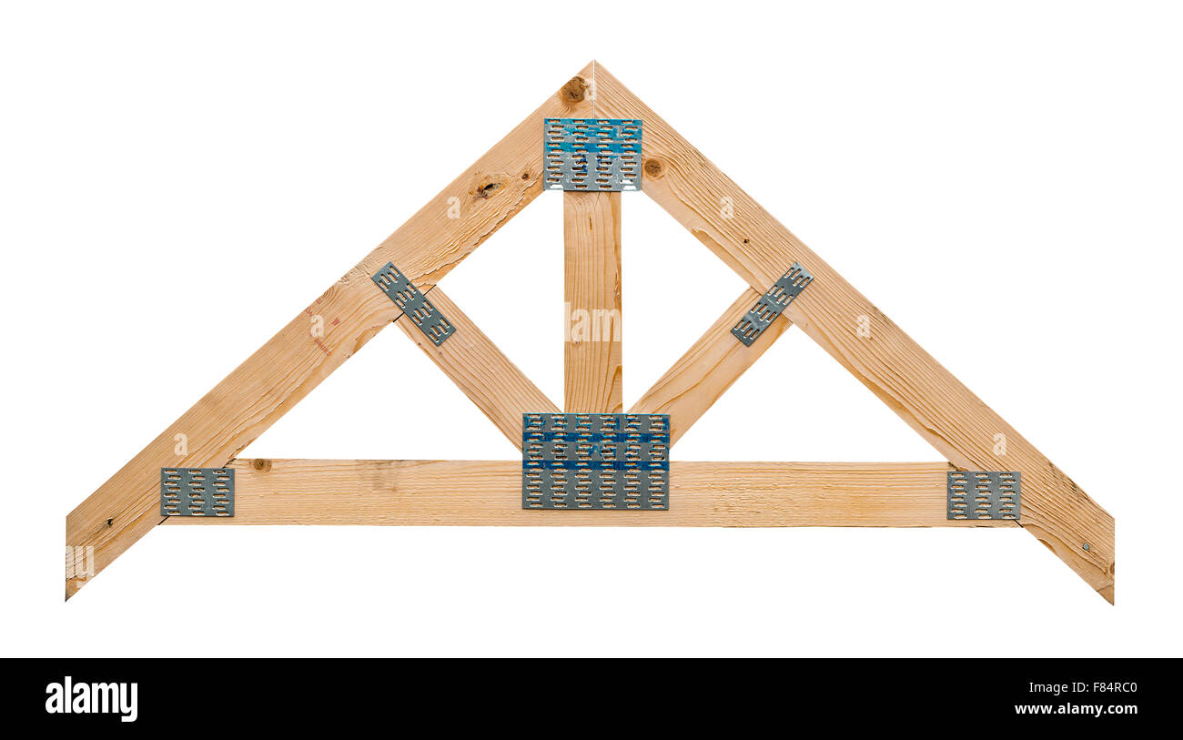 sample of a timber roof truss showing its manufacture isolated against a white background stock - 84 Lumber Roof Trusses