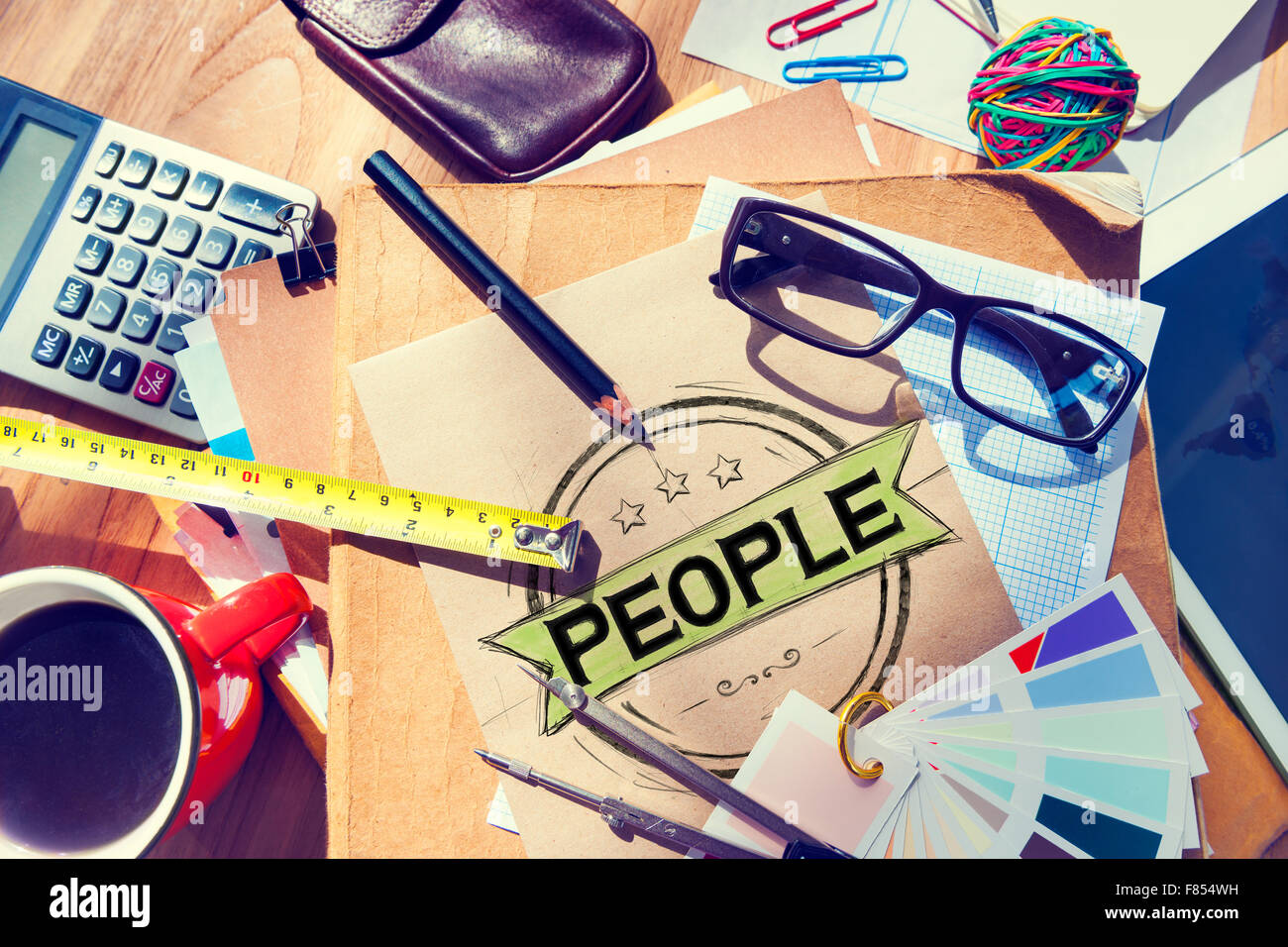 People Human Humanity Individuality Person Concept - Stock Image