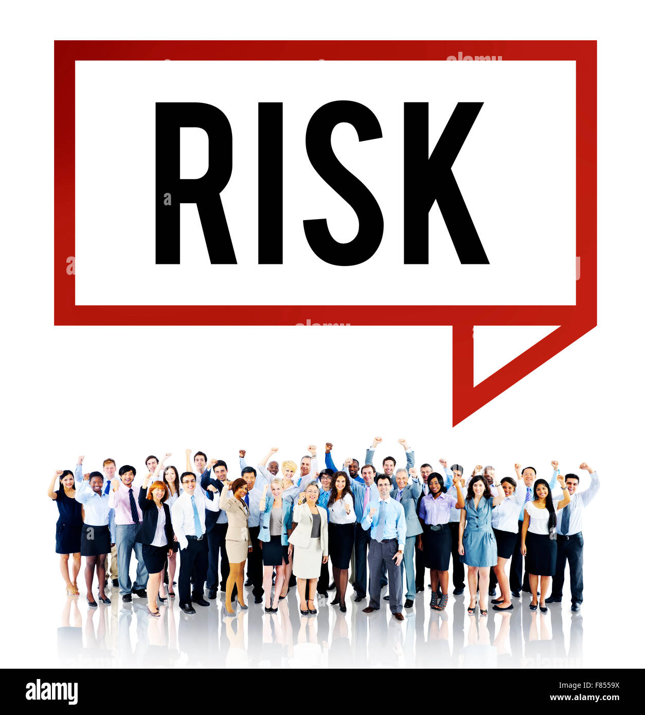 Risk Chance Safety Security Unsure Weakness Concept - Stock Image