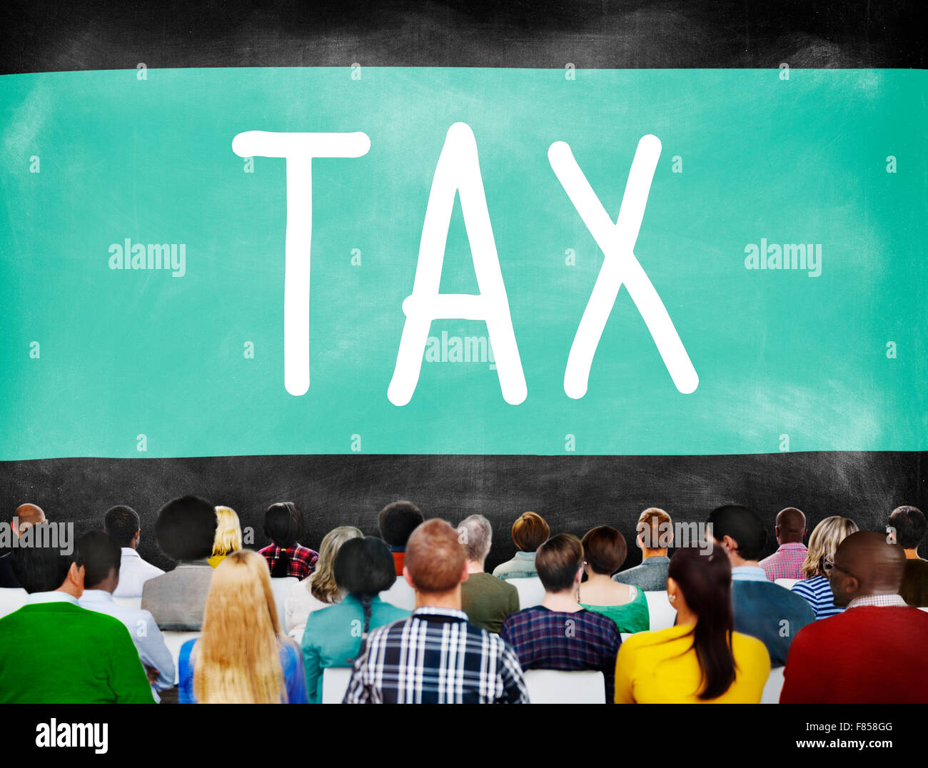Tax Taxation Audit Refund Accounting Concept - Stock Image