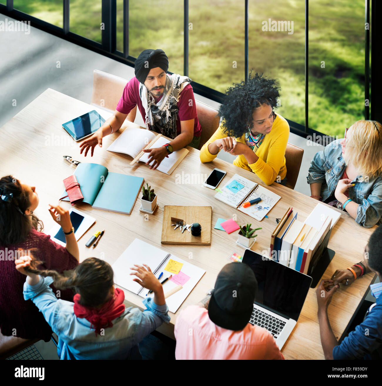 Diverse Group People Working Together Concept Stock Photo 91086295