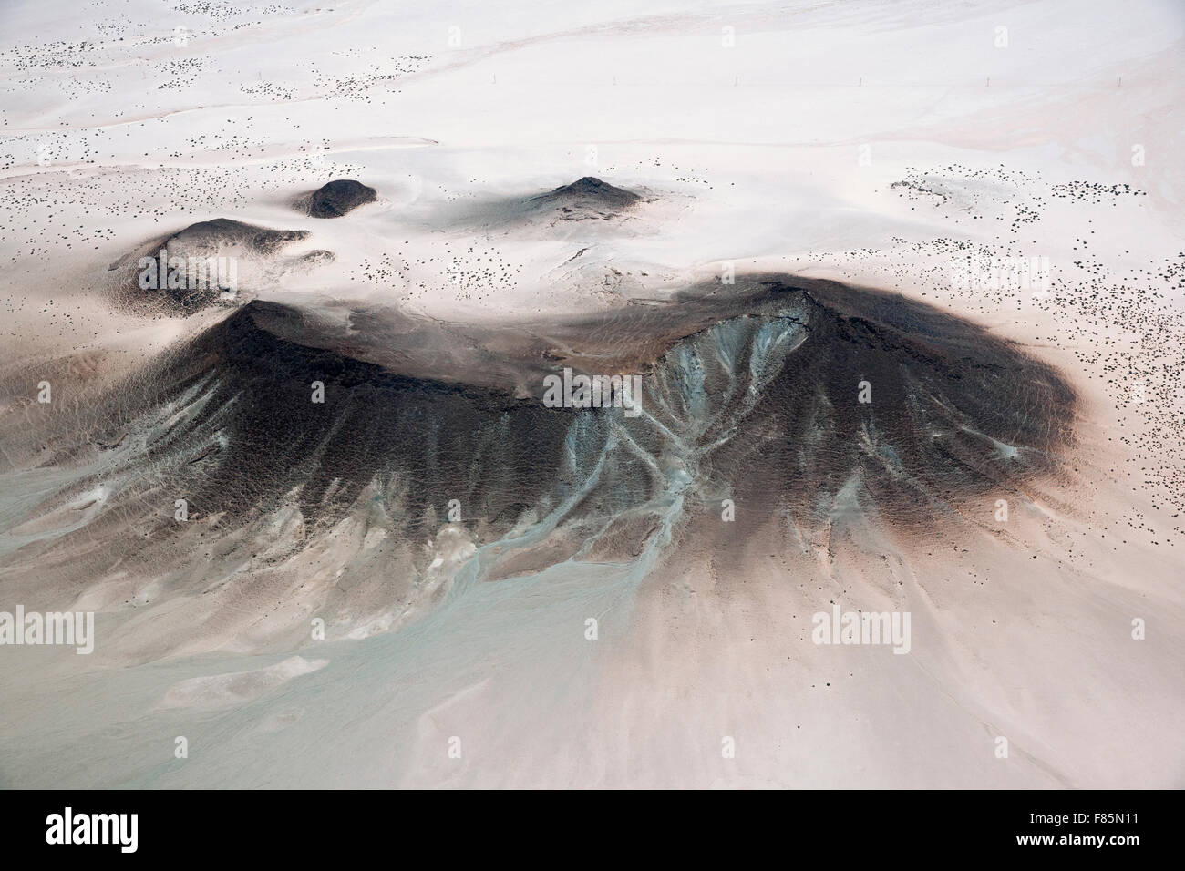 Aerial View of Desert near Luderitz, Namibia - Stock Image