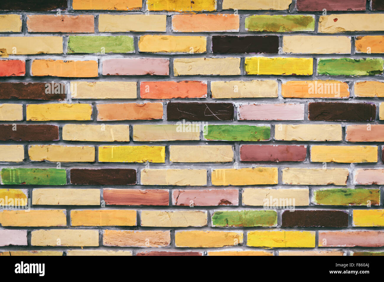 Colorful Brick Wall Texture Stock Photos & Colorful Brick Wall ...