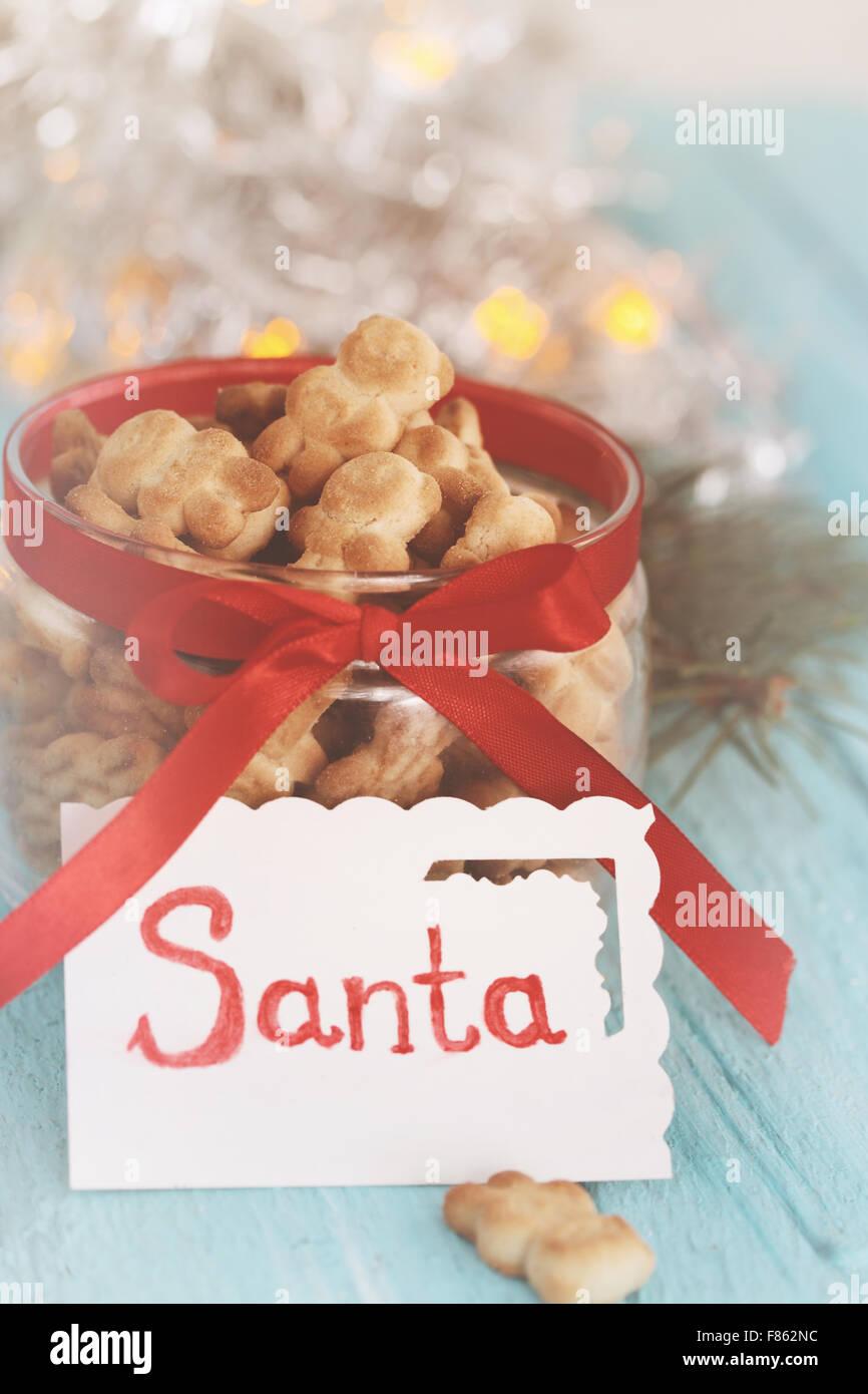 Christmas treats  in the shape of bears - Stock Image