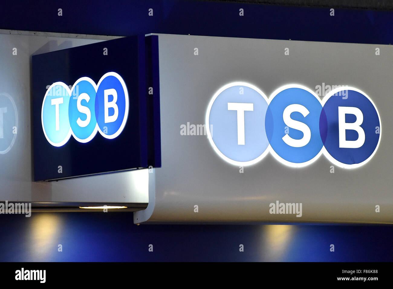 tsb bank high street retail banking - Stock Image