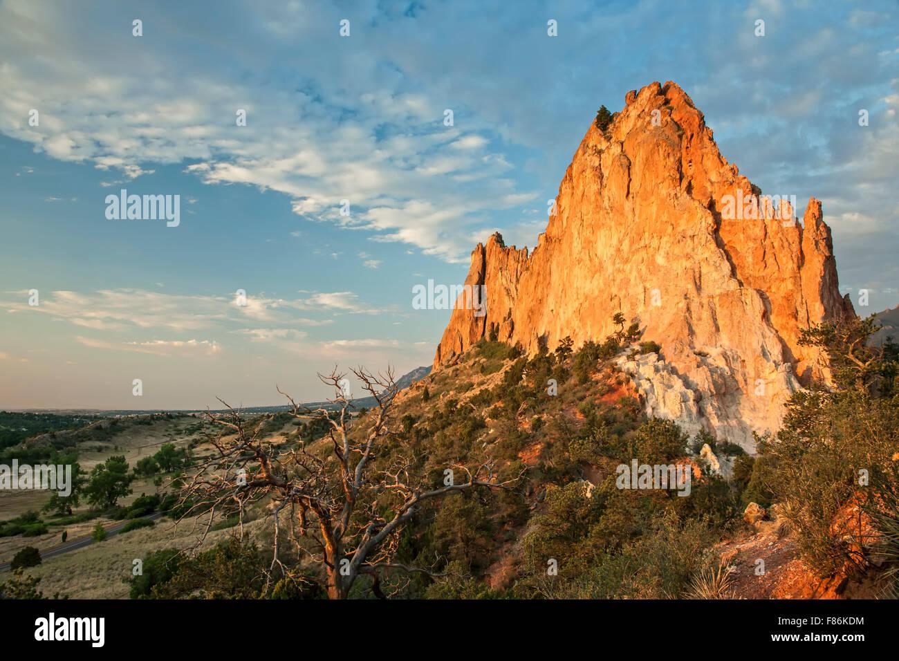 Gray Rock (Cathedral Rock), Garden of the Gods Park, Colorado Springs, Colorado USA - Stock Image