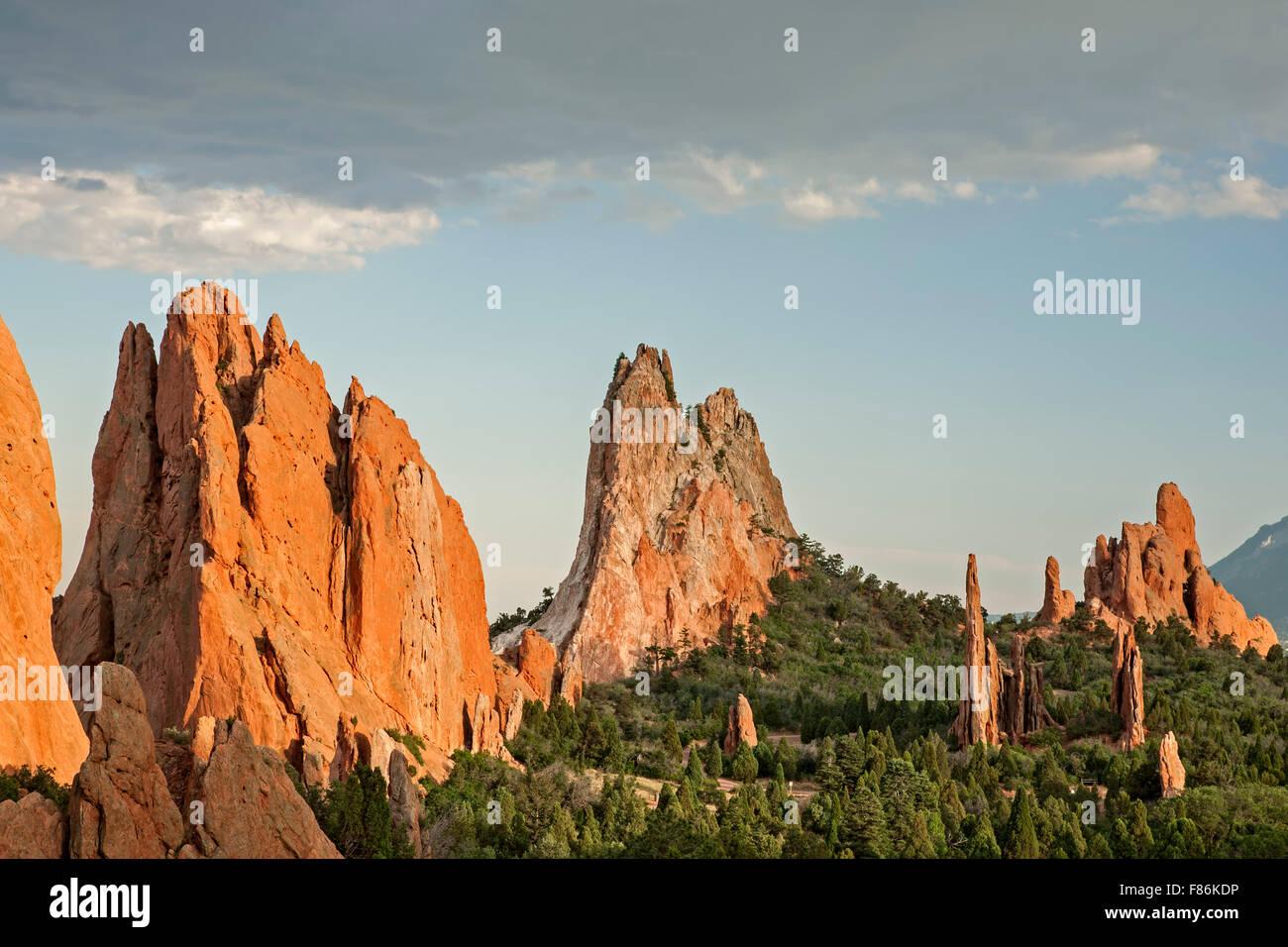 Cathedral Spires, Garden of the Gods, Colorado Springs, Colorado USA - Stock Image