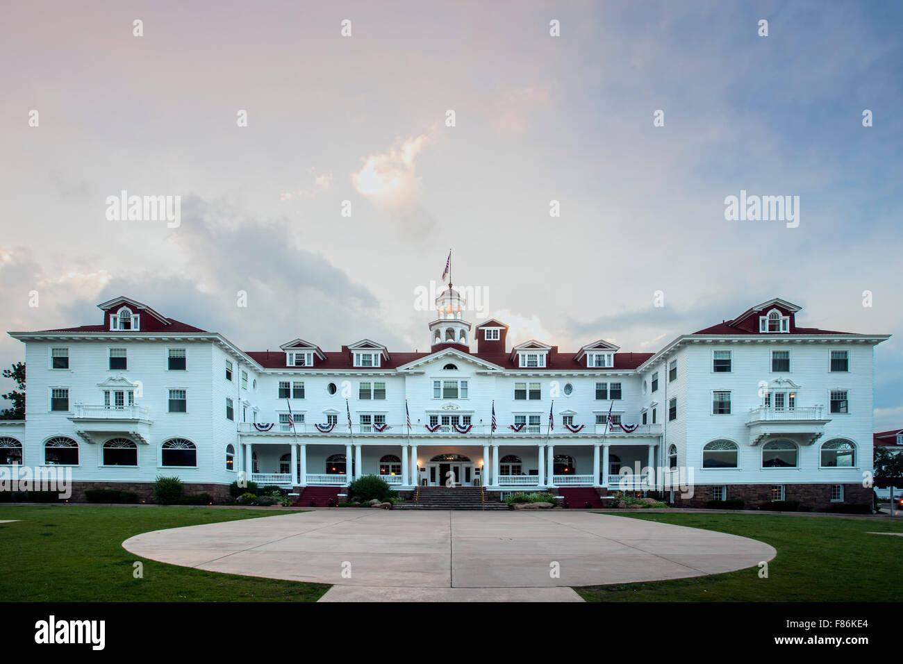 Historic Stanley Hotel (1909), Estes Park, Colorado USA - Stock Image