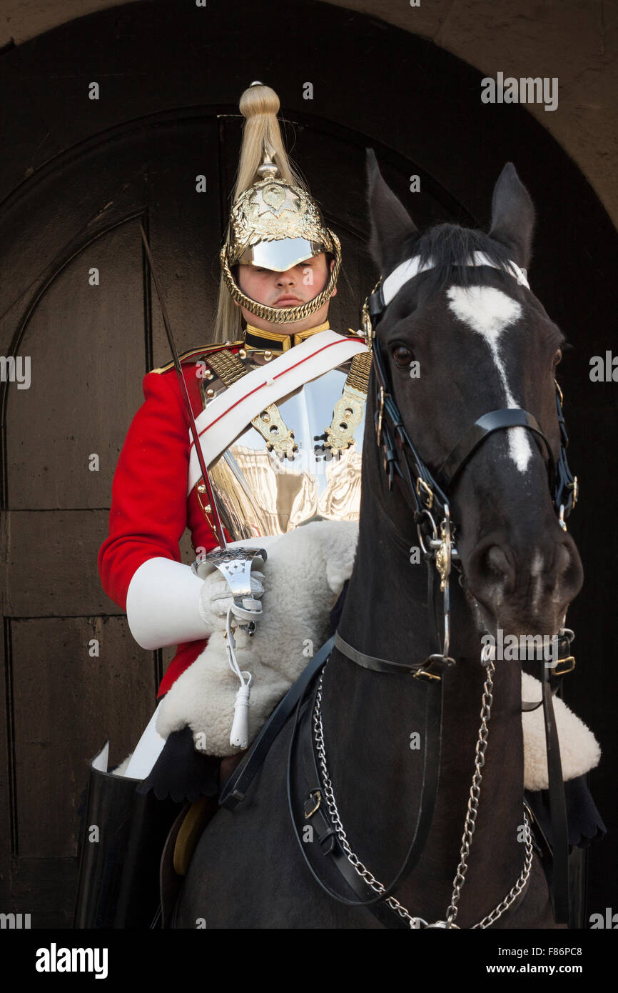 Life Guard of the Household Cavalry - London, UK - Stock Image
