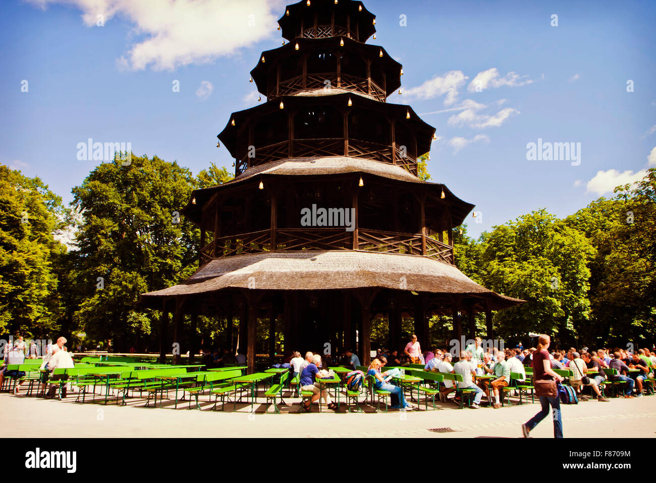 Sun Garden Gartenmobel ~ Munich germany people seat in the sun at chinese tower beer