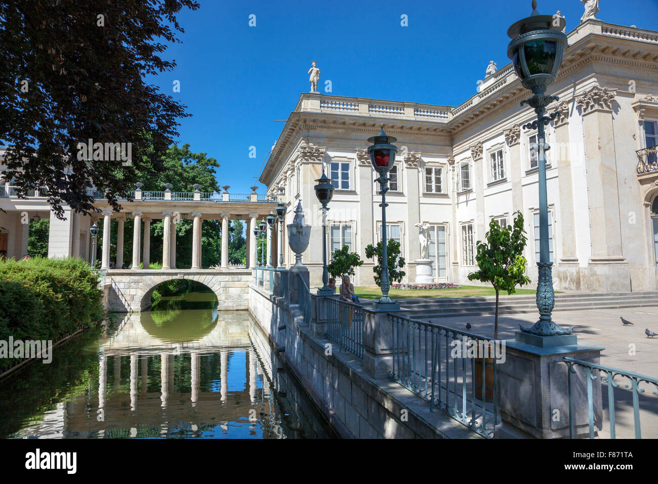 Lazienki Park Palace On The Water Warsaw Poland Stock