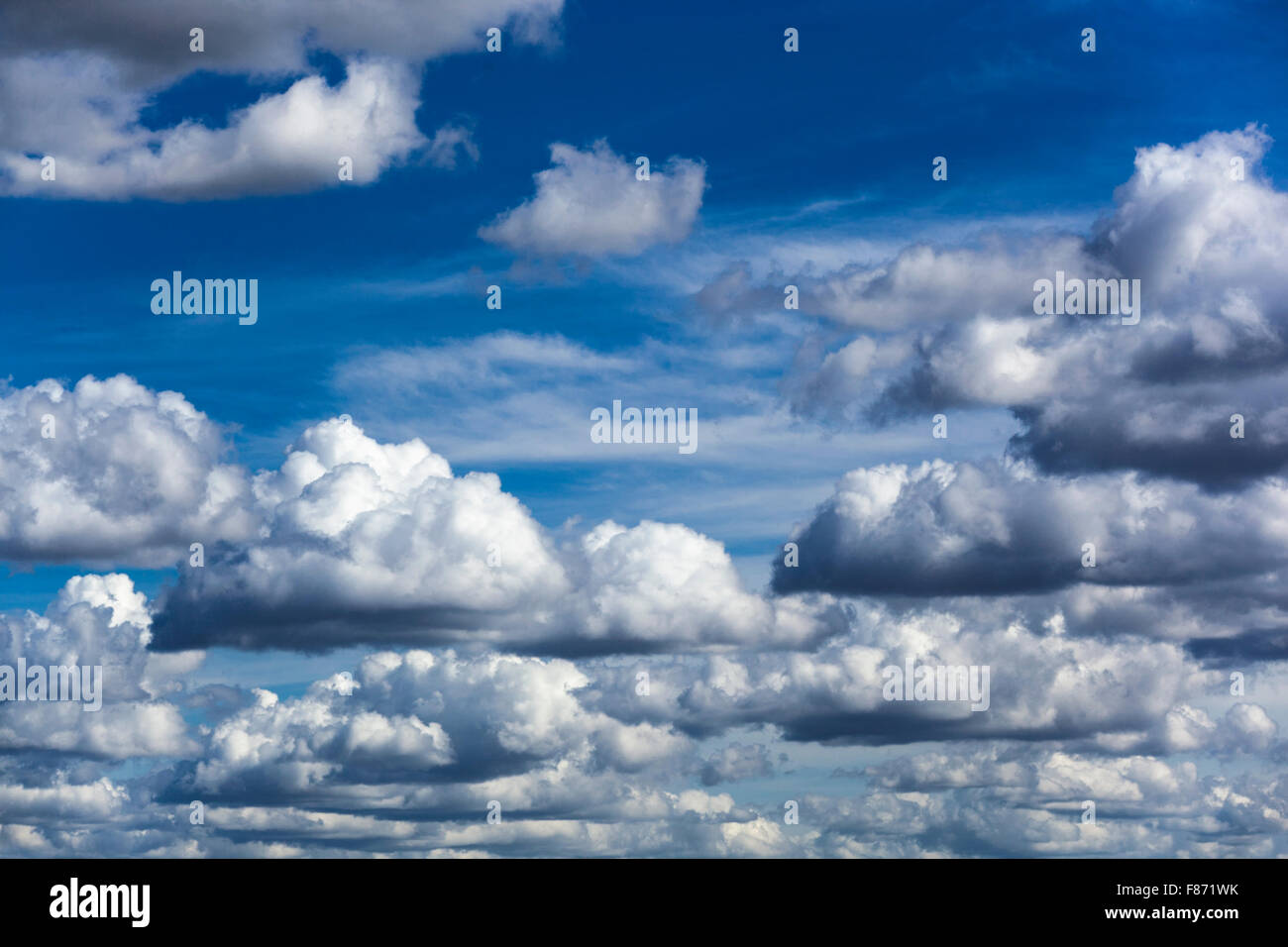 Thick fluffy clouds - Stock Image