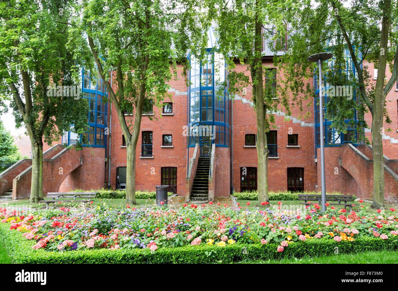 Modern housing conversions, Douai, Nord-Pas-de-Calais, France - Stock Image