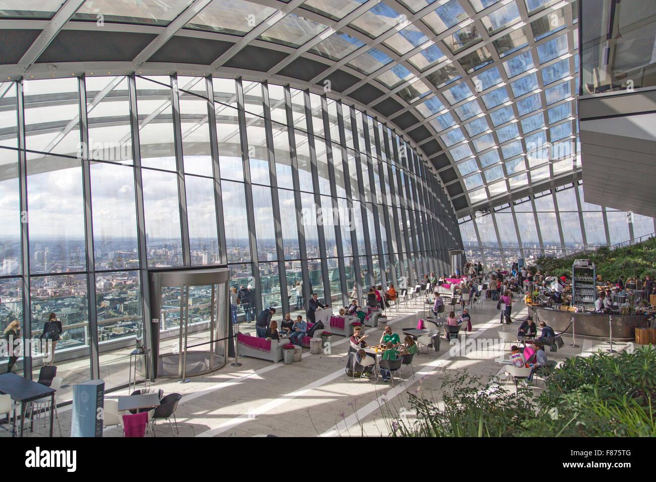 Skygarden in London's Walkie Talkie Building - Stock Image