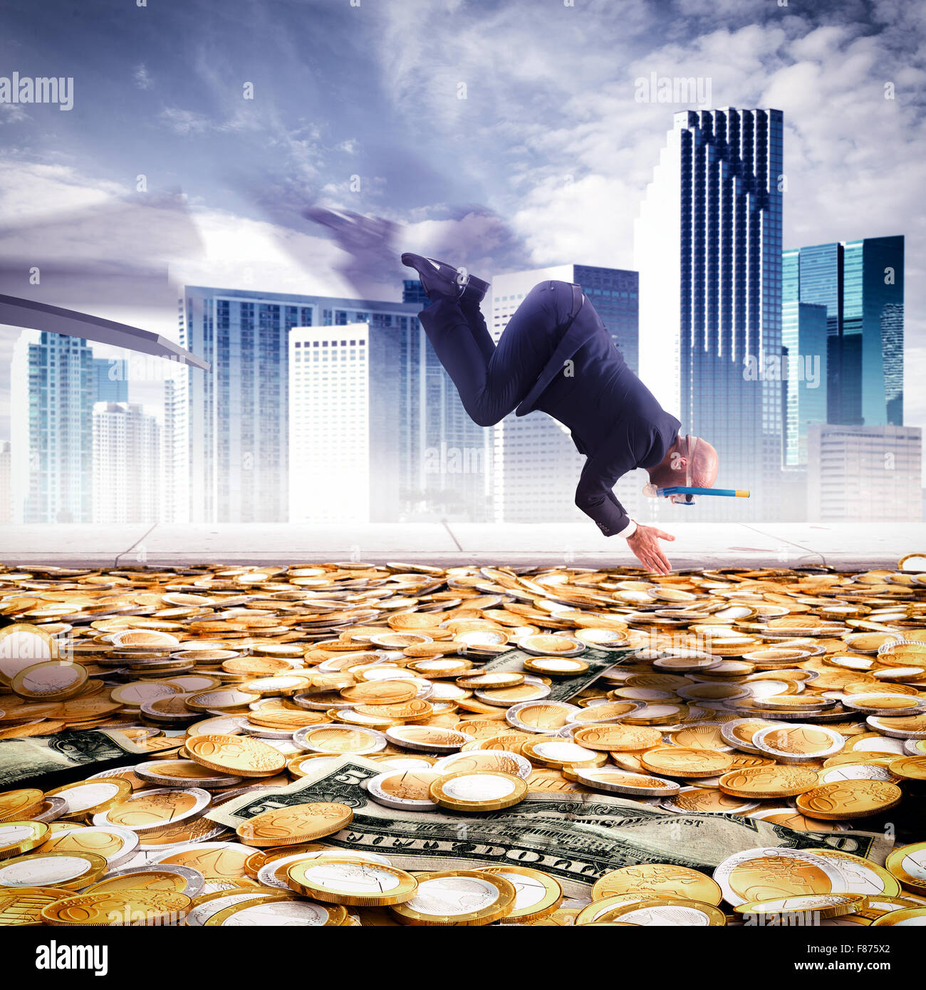 Dive into the wealth - Stock Image