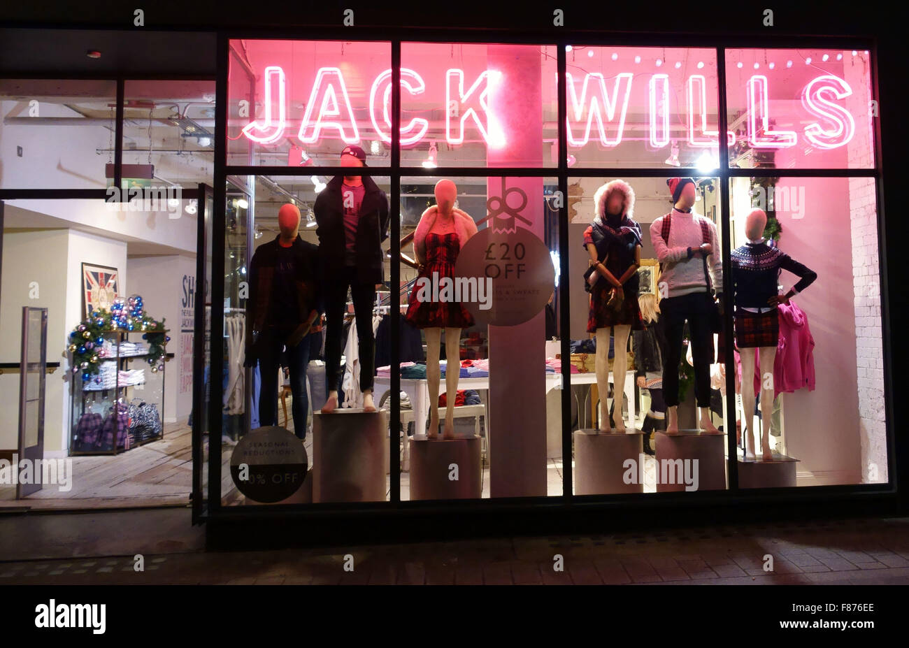 Jack Wills fashion store, Carnaby Street, London - Stock Image