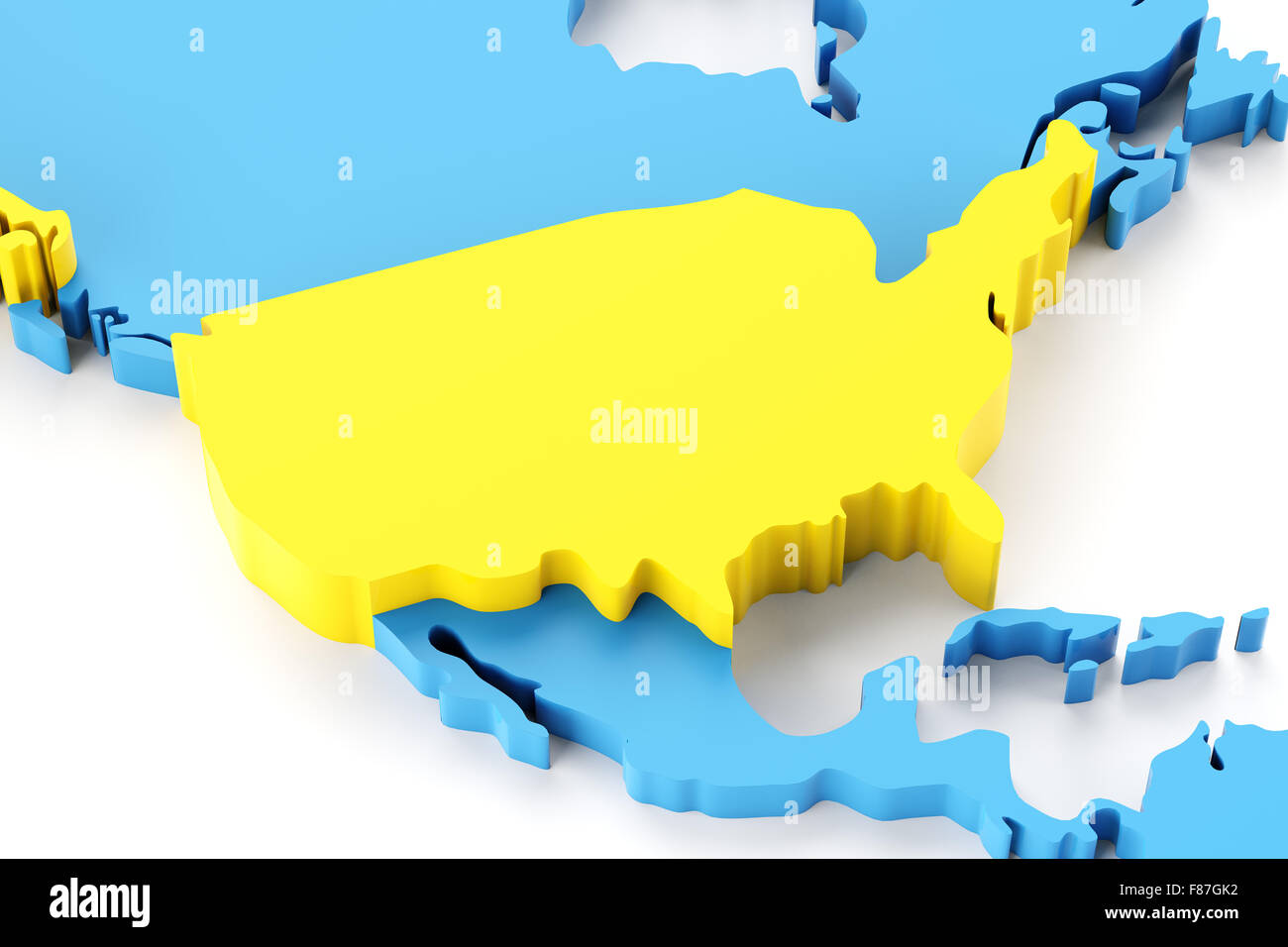 Map north america usa highlighted stock photos map north america map of north america with usa highlighted stock image gumiabroncs Choice Image