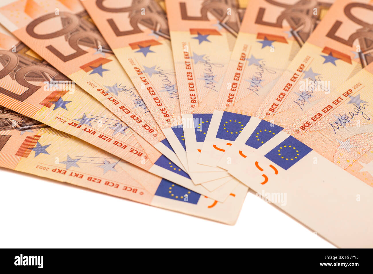 uro money banknotes. 50 euro - Stock Image