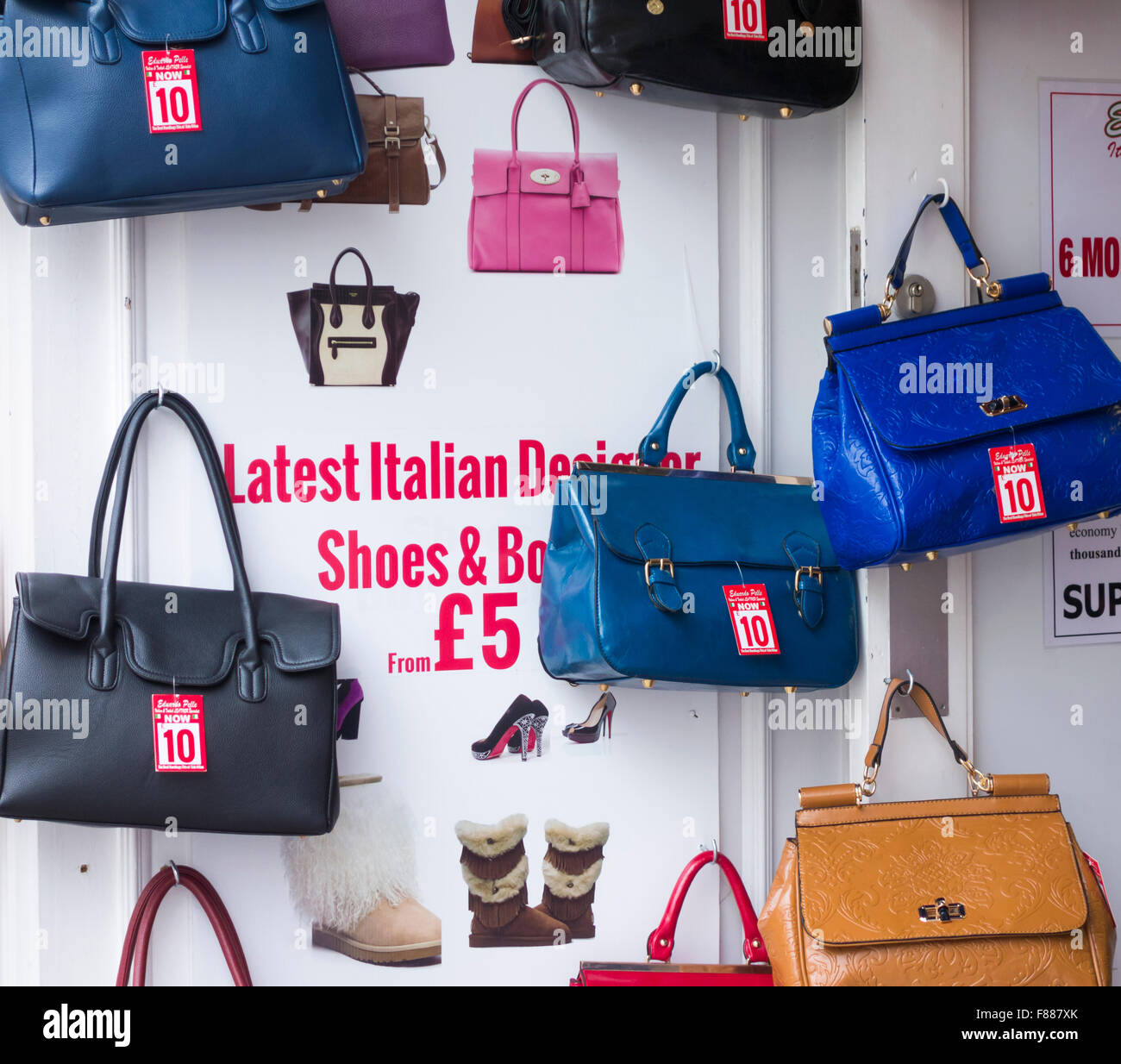 d1bb1b16 'Latest Italian designer shoes and bags from £5' in high street shop in '