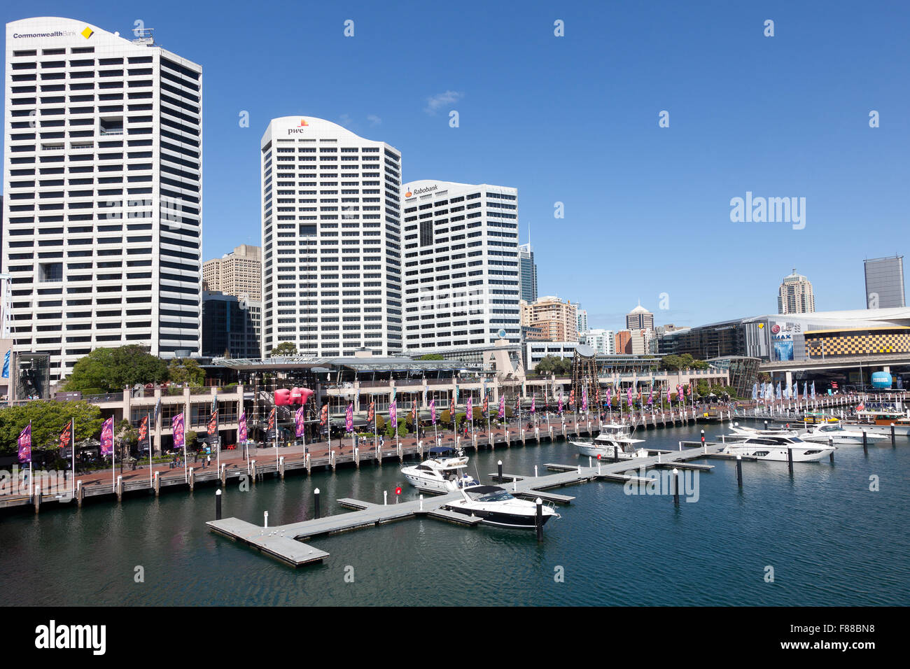 Cockle Bay Wharf, Darling Harbour, Sydney, NSW, Australia - Stock Image