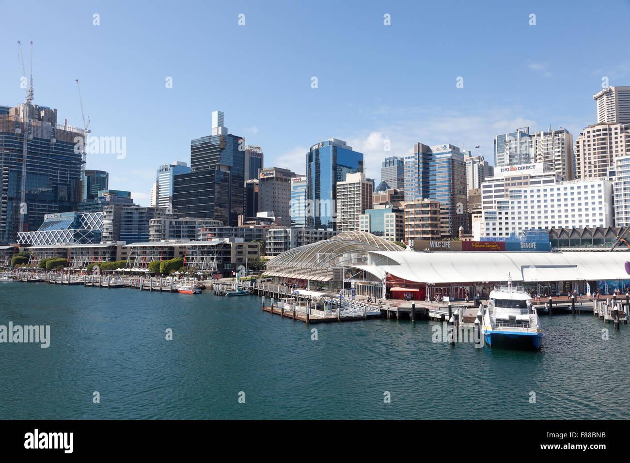 Darling Harbour, Sydney, NSW, Australia - Stock Image