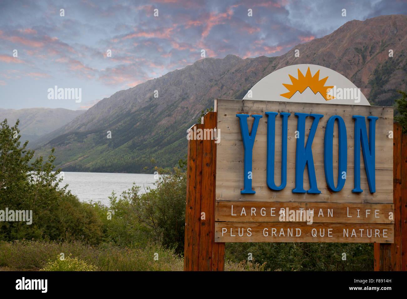 yukon canada border - Stock Image