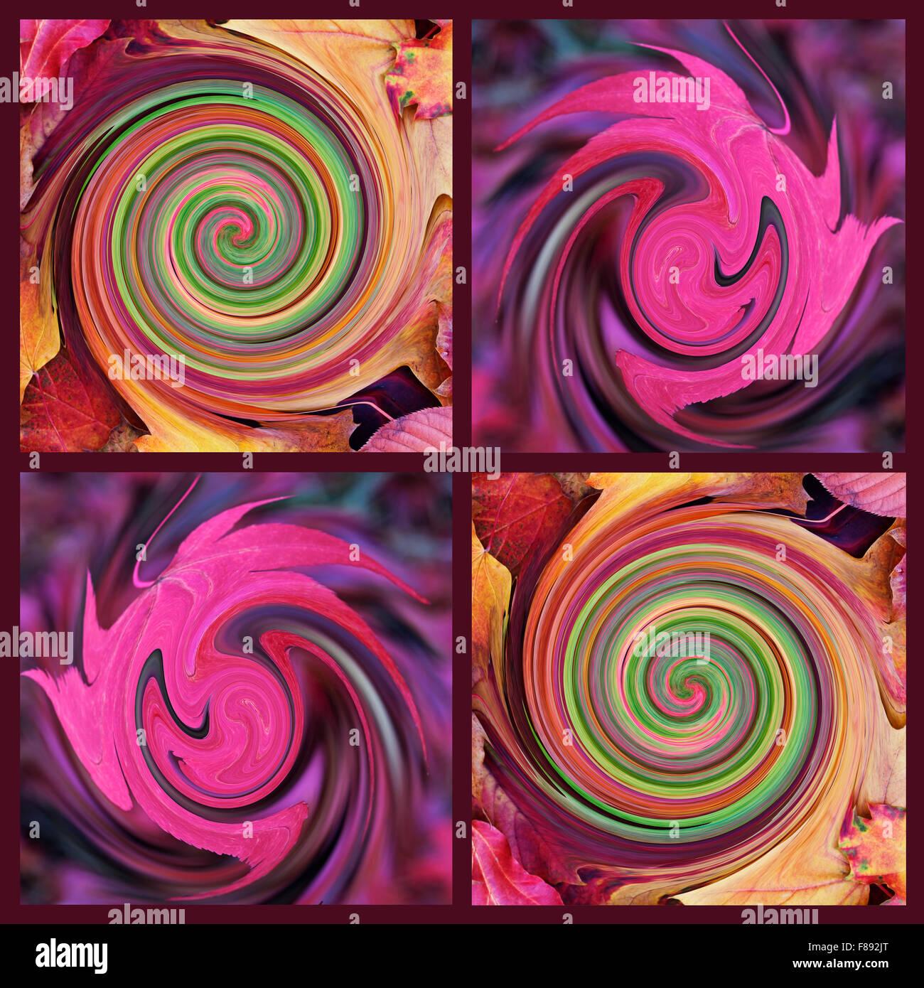 Abstract swirls - Stock Image