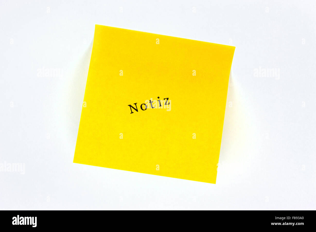 Notiz Post it - Stock Image