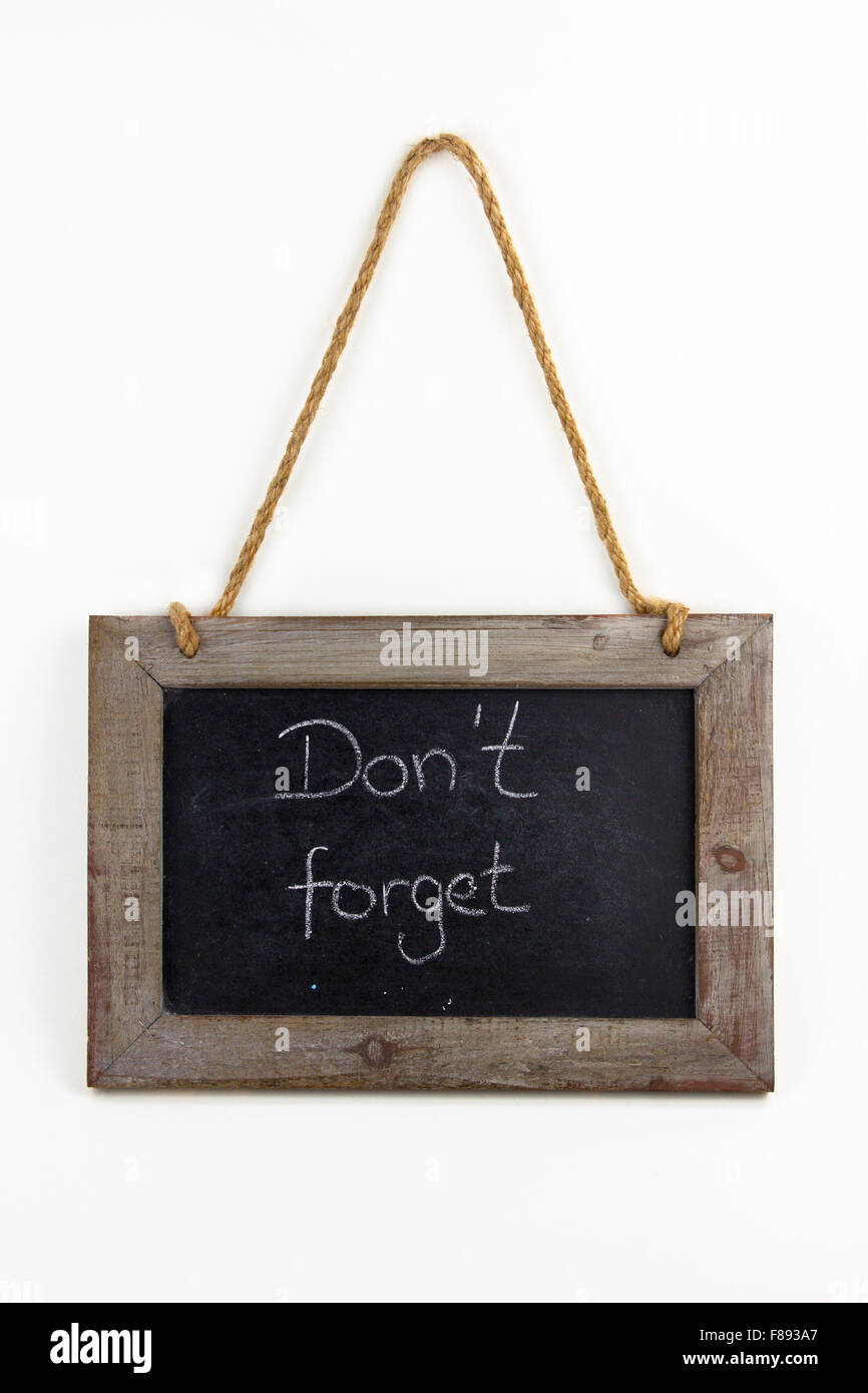 Tafel Holz do not forget - Stock Image