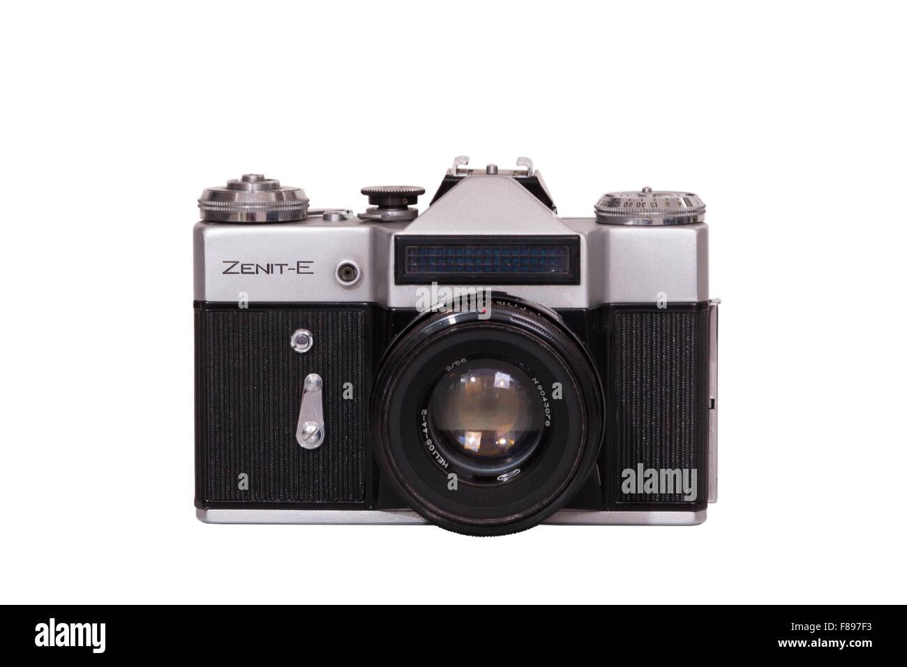 Zenith E / Zenit E single lens reflex SLR from Soviet Union Russia / USSR / Russian made classic amateur 35mm manual - Stock Image