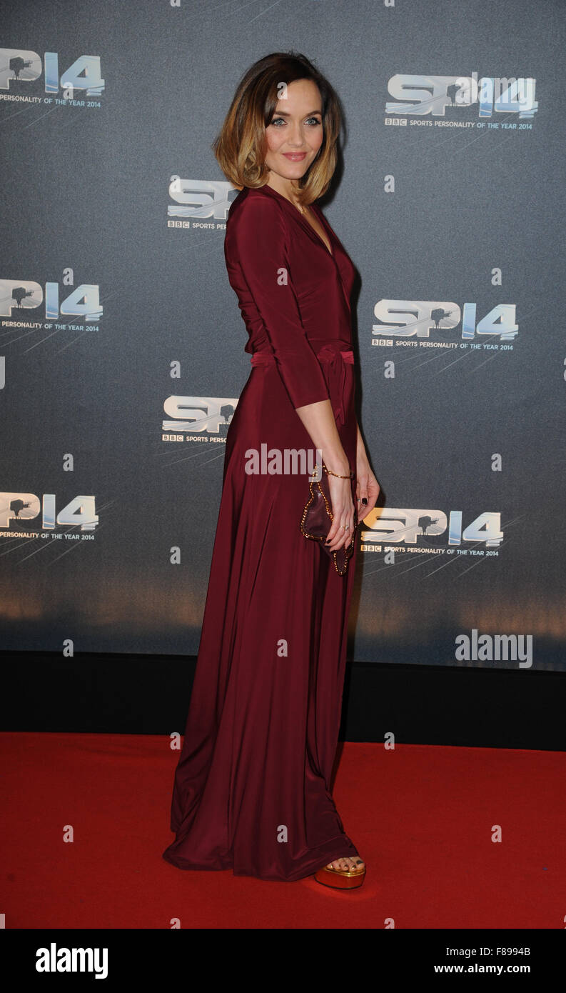 Victoria Pendleton attends the BBC Sports Personality of the Year awards at The SSE Hydro on December 14 2014 - Stock Image