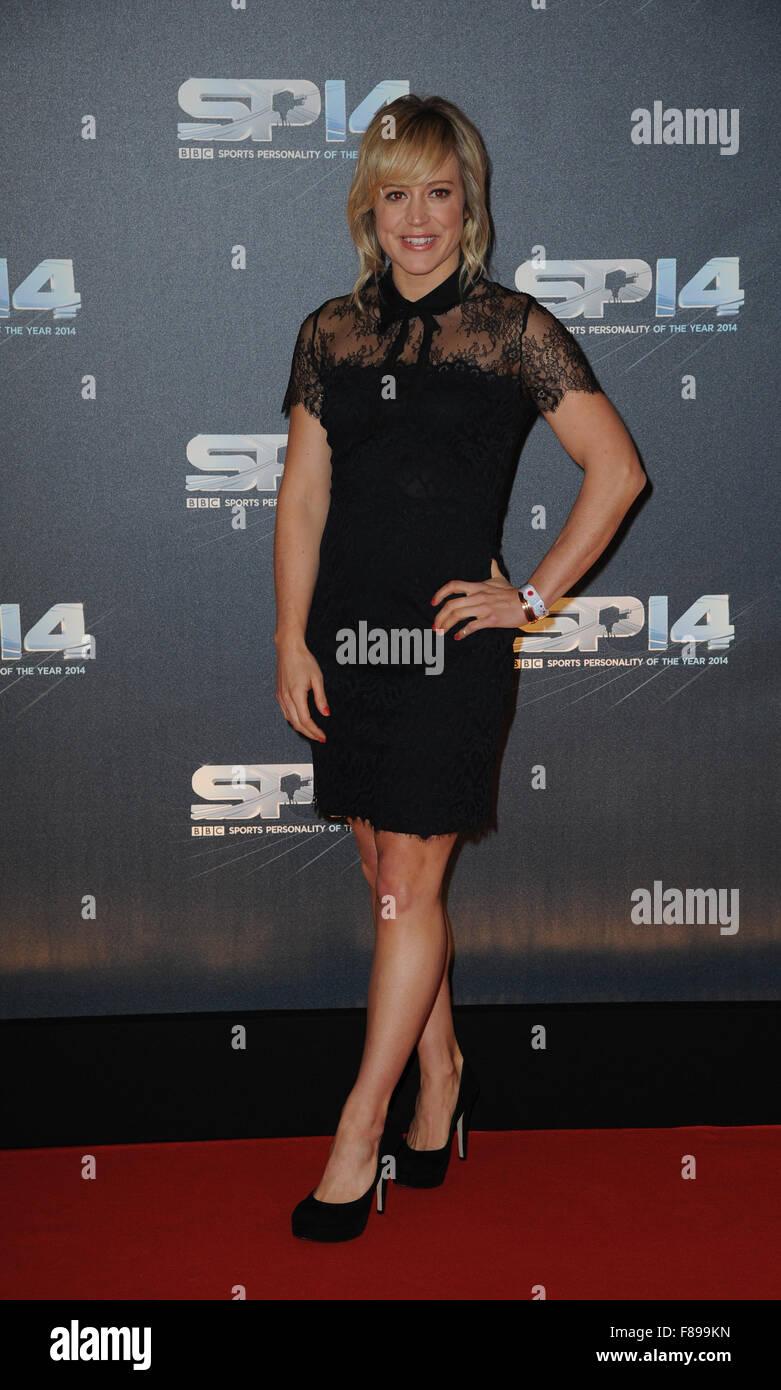 Jenny Jones attends the BBC Sports Personality of the Year awards at The SSE Hydro on December 14, 2014 in Glasgow, - Stock Image
