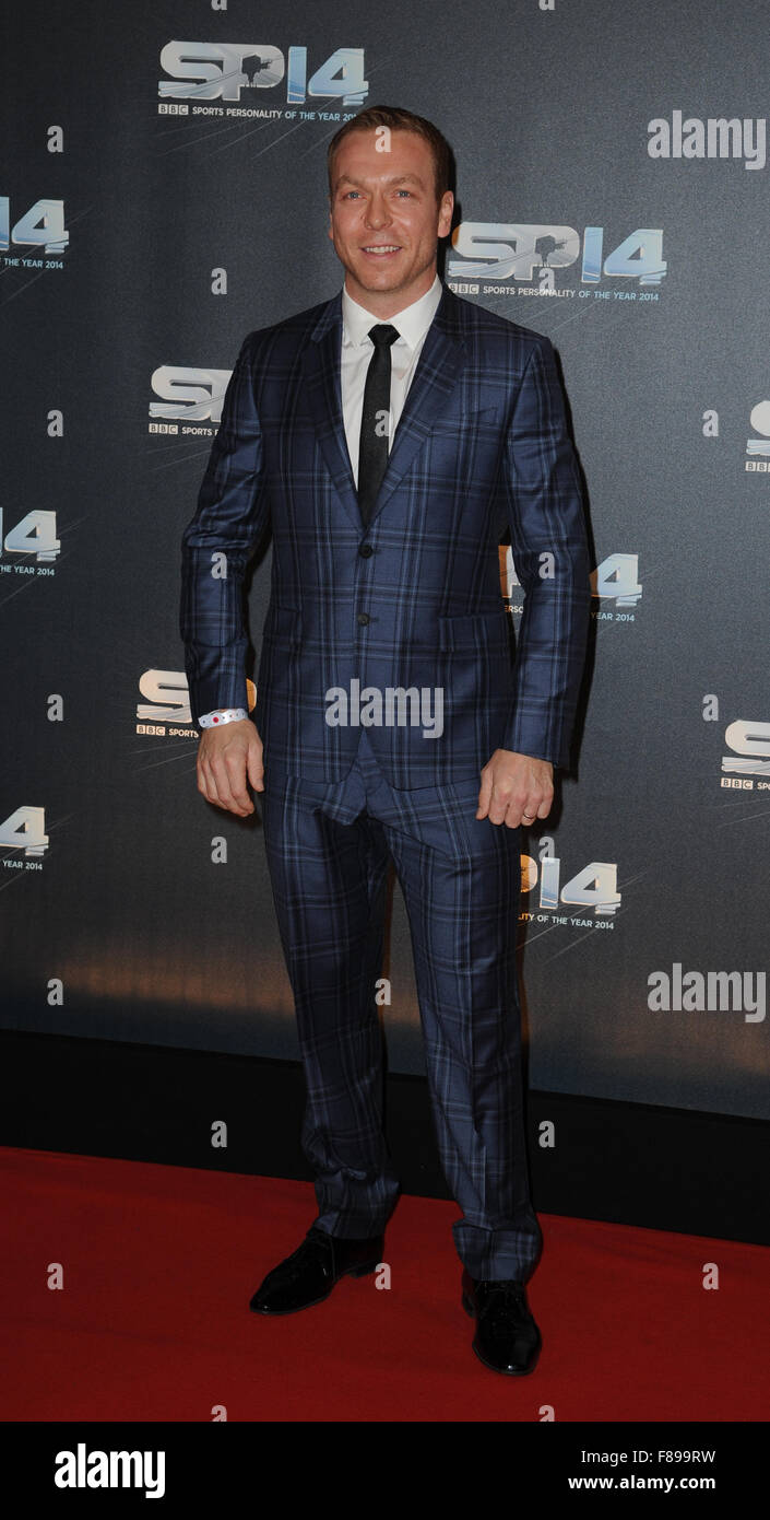 Sir Chris Hoy attends the BBC Sports Personality of the Year awards at The SSE Hydro in Glasgow, Scotland - Stock Image