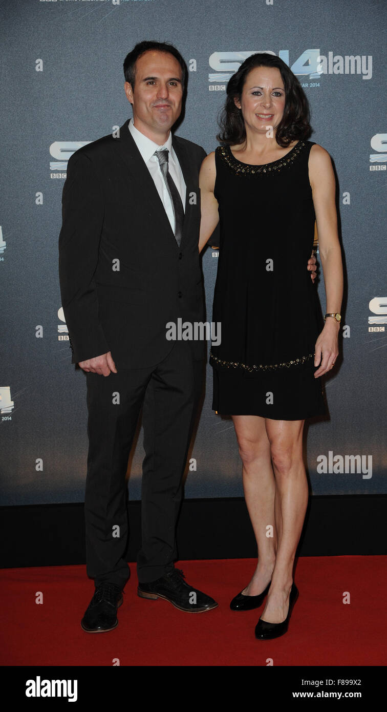Gavin Pavey and Jo Pavey attend the BBC Sports Personality of the Year awards at The SSE Hydro, Glasgow - Stock Image