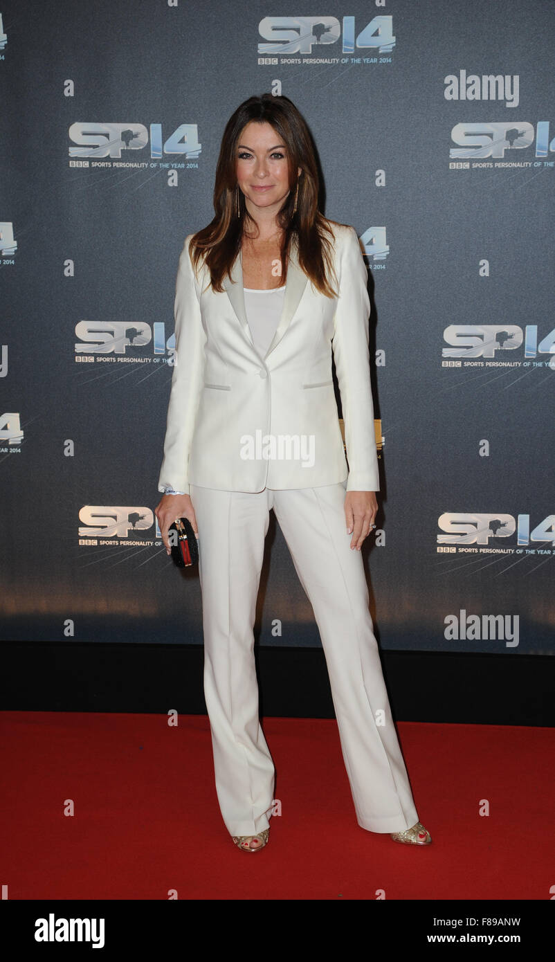 Suzi Perry attends the BBC Sports Personality of the Year awards at The SSE Hydro  Glasgow, Scotland. - Stock Image