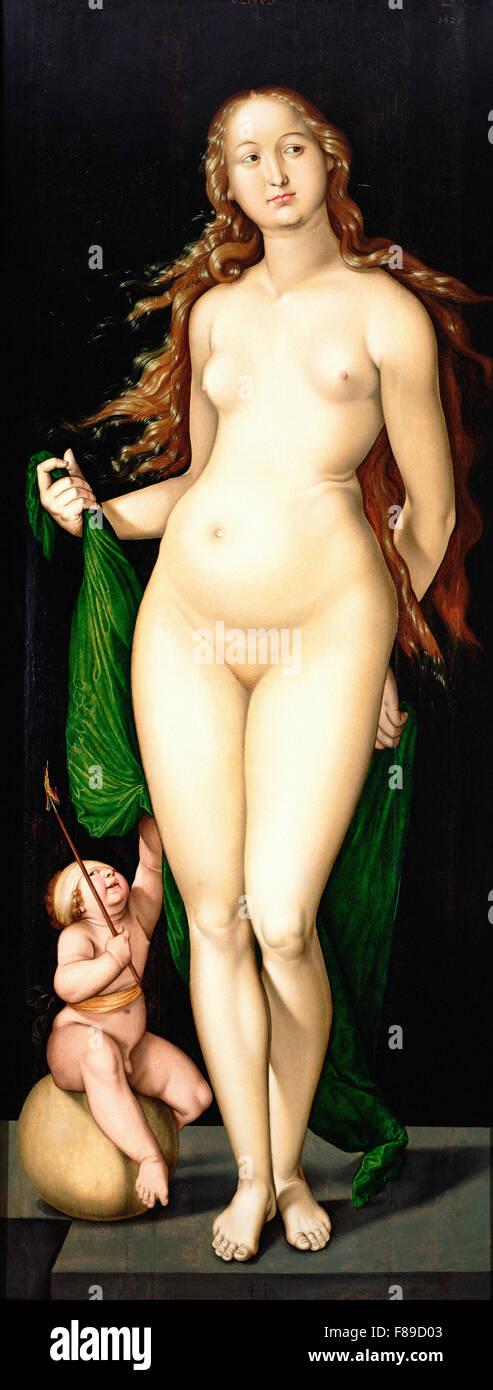 Hans Baldung Grien  - Venus and Amor - Stock Image