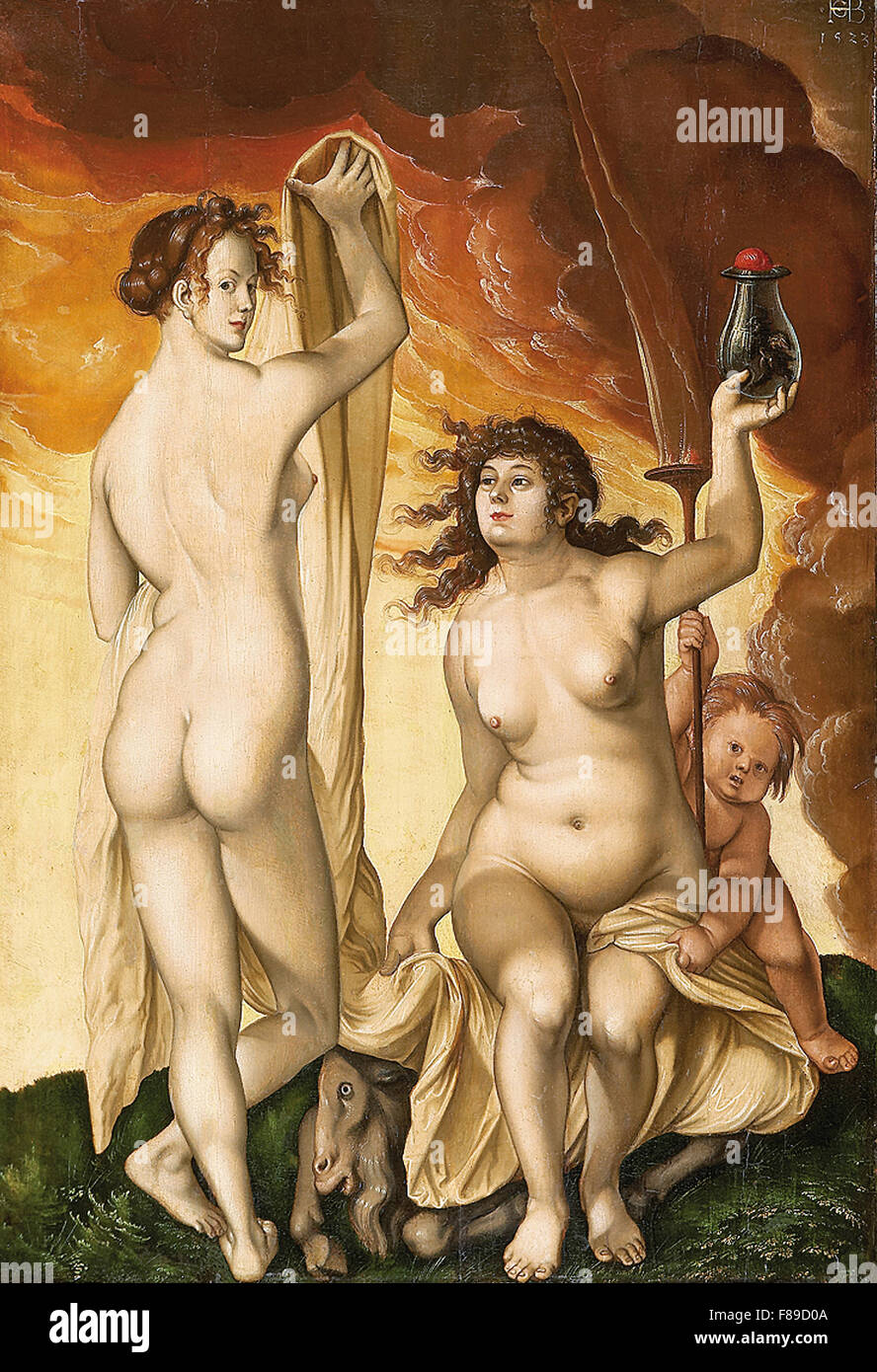 Hans Baldung Grien  - Two Witches - Stock Image