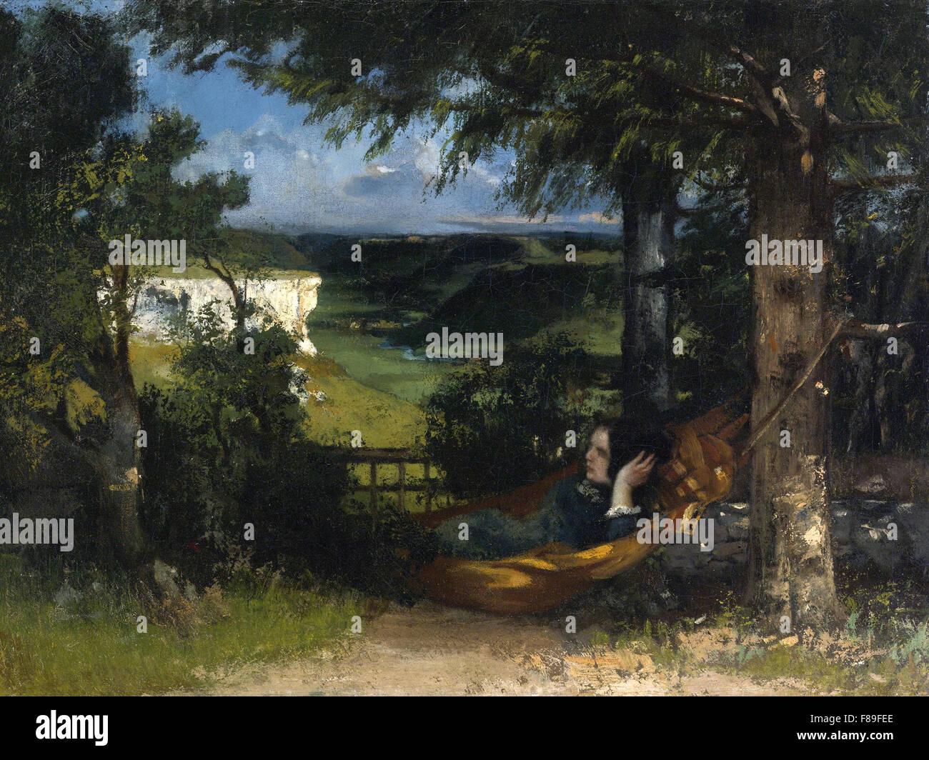 Gustave Courbet - Femme dans un Hamac - Stock Image