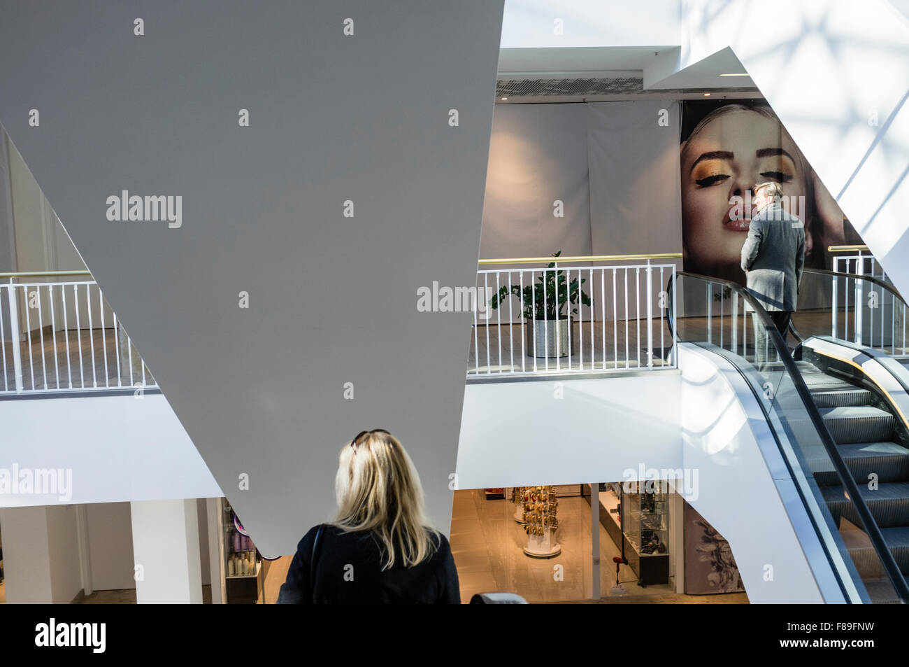 GO9 shopping mall at Gedimino st. 9 Vilnius, Lithuania, Europe - Stock Image