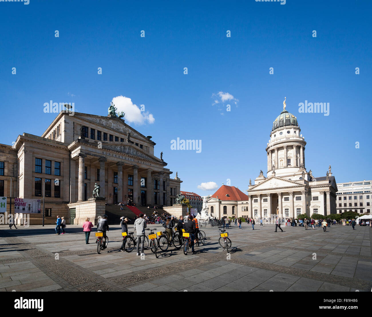Konzerthaus and French Cathedral, Gendarmenmarkt,  Berlin, Germany Stock Photo
