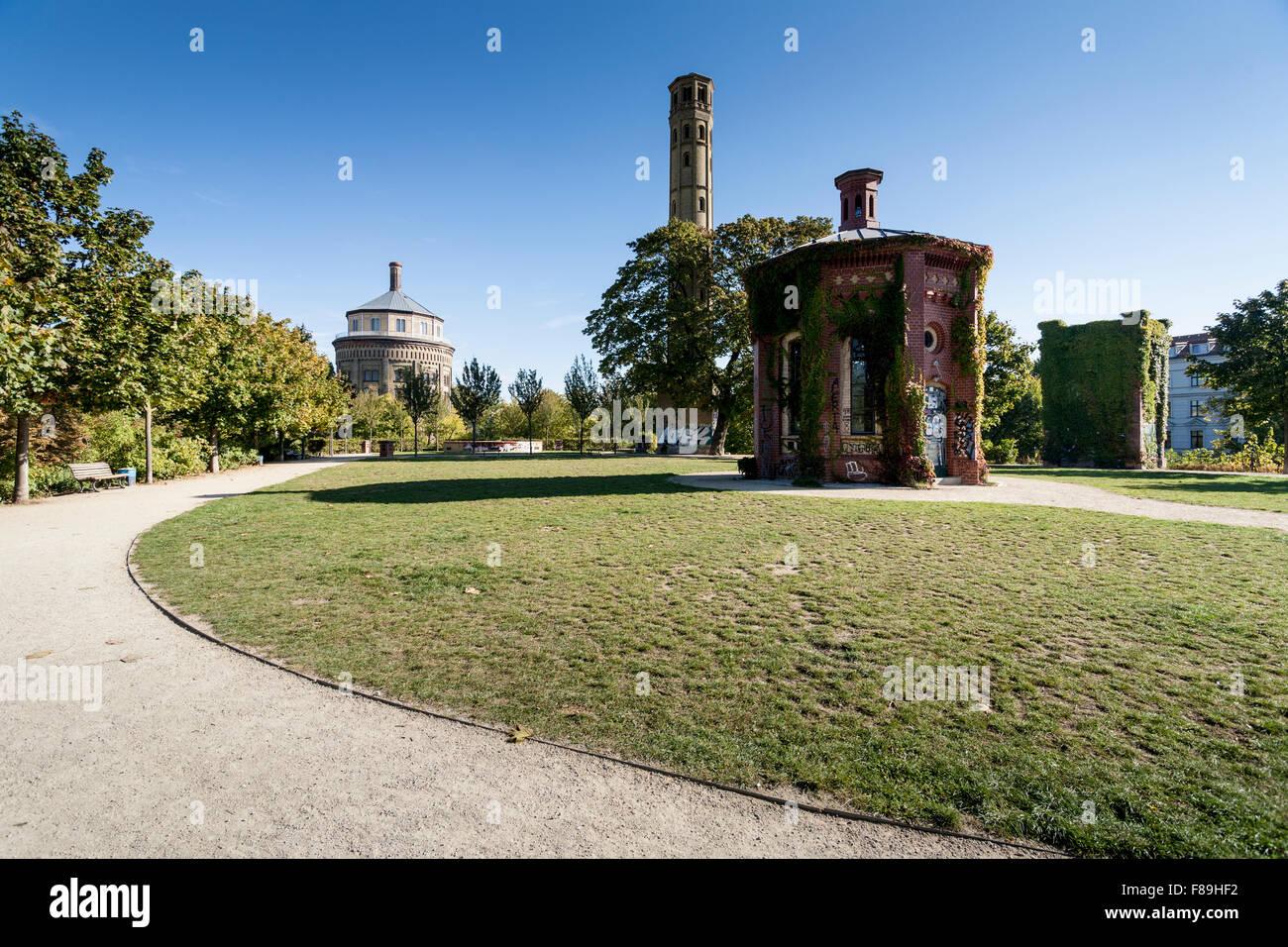 Water tower, Prenzlauer Berg, Berlin, Germany - Stock Image