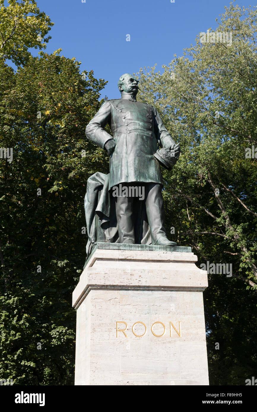 Albrecht von Roon Memorial, Tiergarten, Berlin, Germany - Stock Image