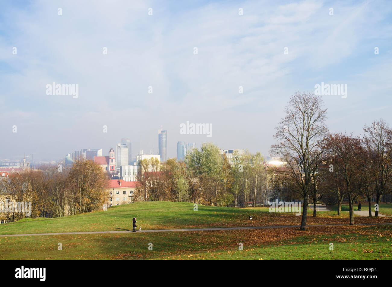 Overview of Vilnius from Tauras Hill, Vilnius, Lithuania, Europe - Stock Image