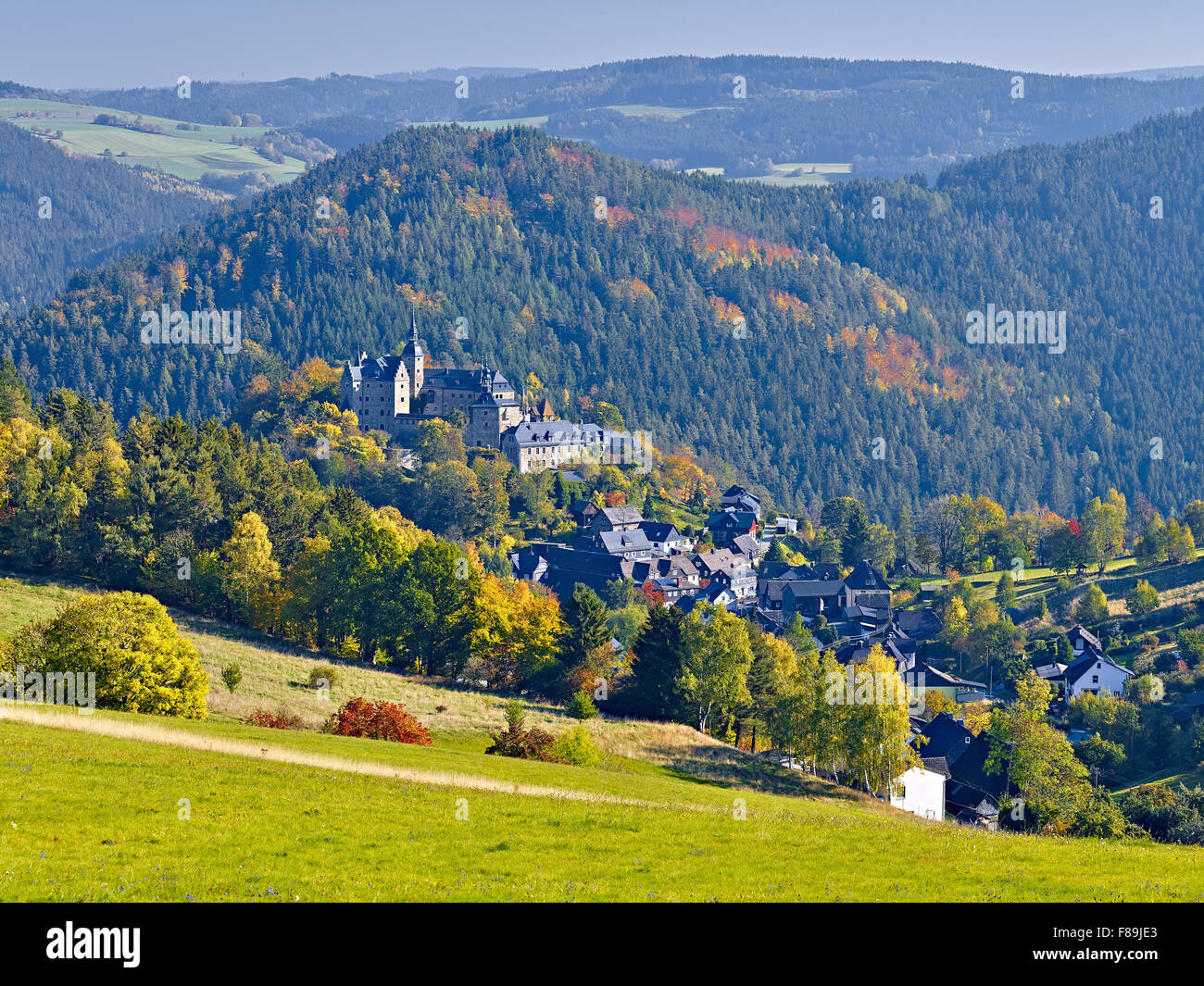 Lauenstein Castle, Ludwigsstadt, Bavaria, Germany - Stock Image