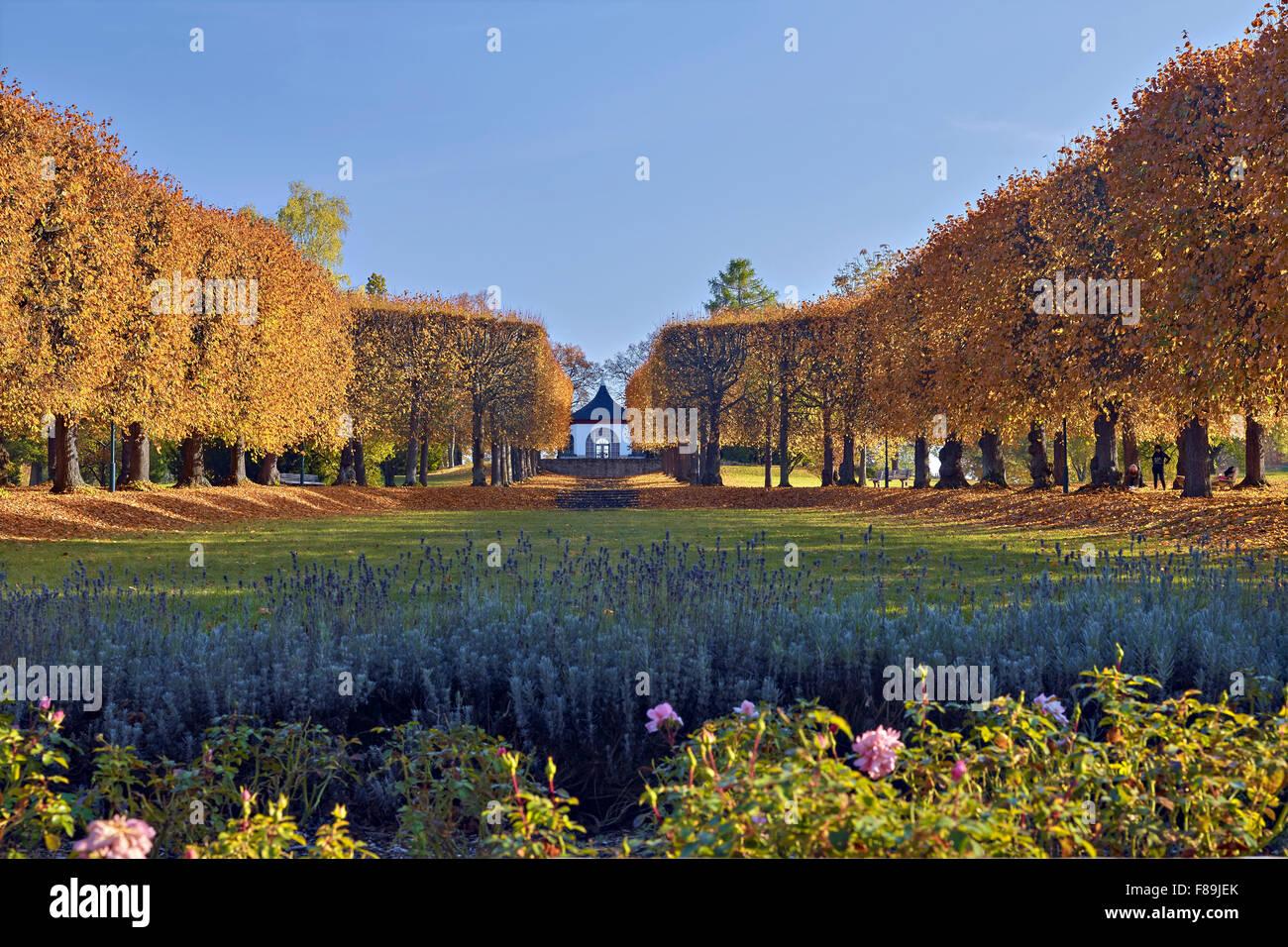 Park of Villa Bergfried, Saalfeld, Thuringia, Germany Stock Photo