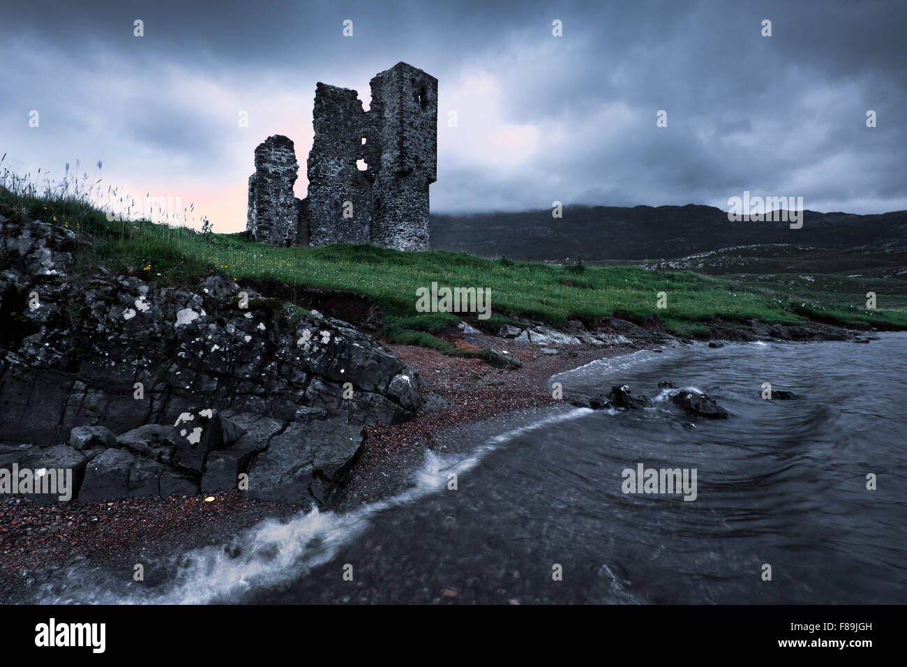 Ardvreck Castle, Highlands, Scotland, Europe Stock Photo