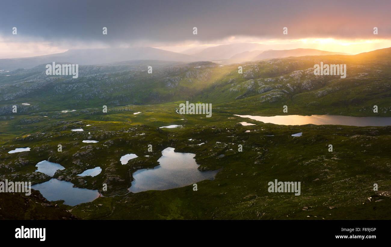 Suilven Mountain, Highlands, Scotland, Europe - Stock Image