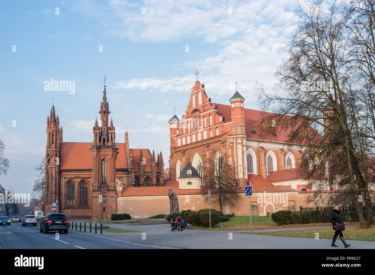 Church of St. Anne, Vilnius, Lithuania - Stock Image